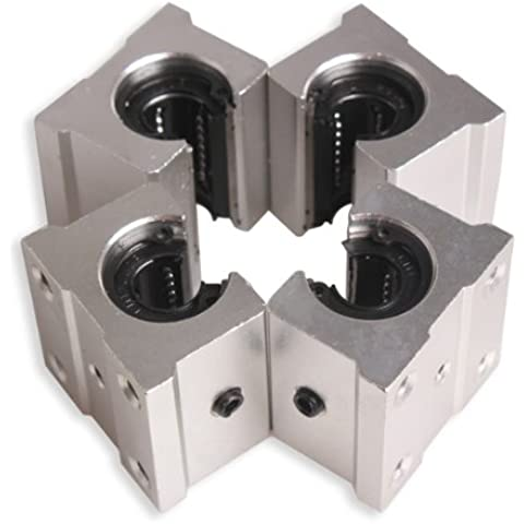 Tenflyer Aluminio Linear Motion Router Teniendo Solide Bloque (SBR12UU)