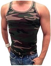 T-Shirt Homme Débardeur Marcel militaire style camouflage