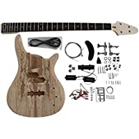 BASS901 Bass Guitar Kit Ash Body Spalted Maple Chrome Fittings NON Soldering
