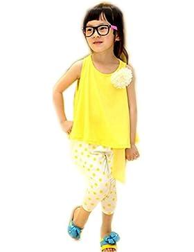 [Patrocinado]Ropa para chicas, RETUROM La flor del punto de la niña del verano imprimió el chaleco y los pantalones largos...