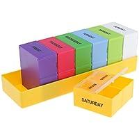 perfk 7 Tage Bunte Tablettenbox Medikamententeiler Tabletten Box Pillendose preisvergleich bei billige-tabletten.eu