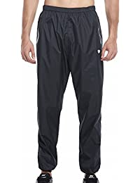 622ae4771059d Red Plume Men's Sauna Pants Long Running Pants Weight Loss Leggings Trousers  with Zipper Pockets Black