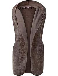 Femmes Veste Sans Manches à capuche Gilet Vest d'hiver