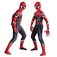 AM ANNA The Spider-Verse Kids Bodysuit Spiderman Superhero Costumes Halloween Cosplay Costumes (XL(130-140))