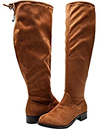 60767024b308 Luoika Women s Wide Width Mini Wedges - Comfortable Mid Low Heel Ankle  Buckle Strap