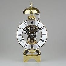 y-hui despertador mecánico cobre Polaris Radioscopie tiempo relojes reloj de escritorio accesorios Feng Shui del reloj de base mecánico TTF, 10en 15días, chapado en oro