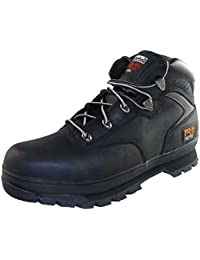 Timberland Mens Euro Hiker Black Lace Up Leather Safety Ankle Boot