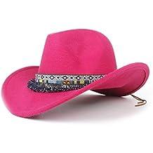 Xinanlongjb Fashion 2019 Ladies Western Cappello da Cowboy Cappello in  Feltro di Lana Jazz Corda Fringe 2d0c97370994