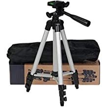 Stealkart Tripod Camera Stand for Canon 700d, Canon 1300d, Canon 750d, Canon 200d, Canon 1200d and Other Canon, Nikon DSLR, All Smartphones & Cameras Come with Mobile Holder and Carry case