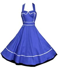 Pretty Kitty Fashion 50s Blau Kleid