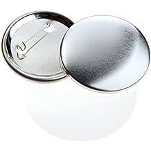 Consumibles des chapas para máquina Acfor (59 mm) - Set para crear chapas metálicas de 59 mm con alfiler trasero incluido