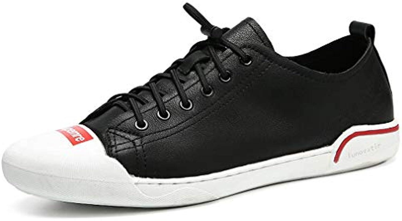 oroGOD Pelle Uomo Basso Per Aiutare Le Piccole Scarpe Bianche In Pelle Scarpe Casual,nero,39 | Adatto per il colore  | Uomo/Donna Scarpa