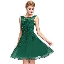 Vestido verde de encaje corto