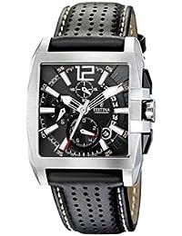 Festina Herren-Armbanduhr TIMELESS Chronograph Quarz Leder F16363-6