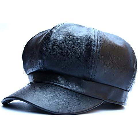 Alla moda Berretti/Solido tappo ottagonale/Cap di pittori/ cappello di pelliccia di anatra lingua