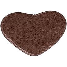 Área Rugs, keepwin Cute forma de corazón antideslizante suave Shaggy alfombras alfombra para salón, niños dormitorio, cocina, cuarto de baño, decoración de guardería