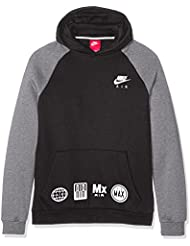 Nike B Nsw Hd Po Air - Sudadera para niño, color negro, talla XS