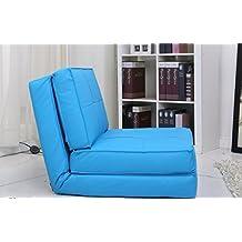 Sillón cama (pequeño, azul claro)