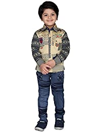 AJ Dezines Kids Shirt and Jeans Clothing Set for Boys