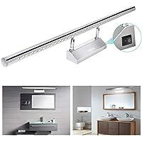 YISSVIC Lámpara de Pared Baño Aplique Espejo de Acero Inoxidable LED para Baño con Luz Blanca de 9W con 39 LED