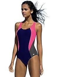 87128cb3fcca3 Badeanzug fur Damen endurance einteiliger Schwimmanzug Vorgeformte BH-Cups,  Farbe:V2, Gr
