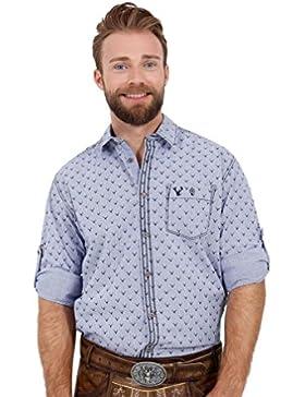 Michaelax-Fashion-Trade Krüger - Herren Trachtenhemd in Blau, Carl (95103-8)