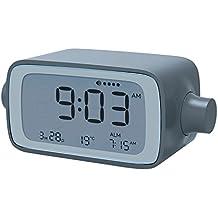 Lexon LR135GB Dream despertador Time, gris/azul, 13 x 5,5 x 5,67 cm