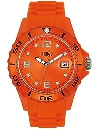 Mango A6833TR17KV - Reloj para mujeres, correa de goma color naranja