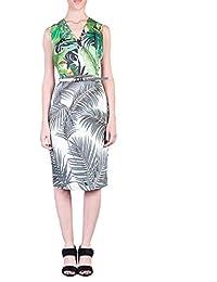 Max Mara Damen OPPIOWHITE Multicolour Baumwolle Kleid ad54781dd4