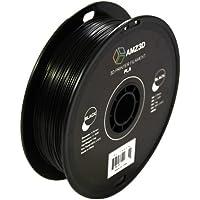 1.75mm Black PLA 3D Printer Filament - 1kg Spool (2.2 lbs) - Dimensional Accuracy +/- 0.03mm