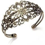 SODIAL (R)Bracelet Gourmette Poignet Cisele Retro Metal 35x65mm Decoration