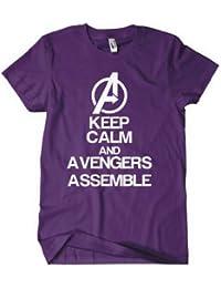 Avengers Assemble T shirt Keep Calm and Call the Avengers! Purple