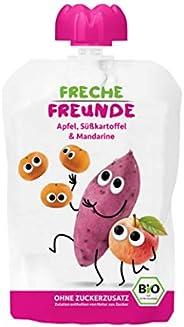 Freche Freunde Bio Quetschie 100% Apfel, Süßkartoffel & Mandarine 6-er Pack (6 x 100g)