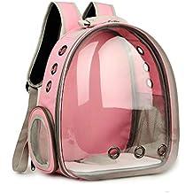 Cápsula transparente transpirable para mascotas, gatos, cachorros, viaje, mochila, bolsa de