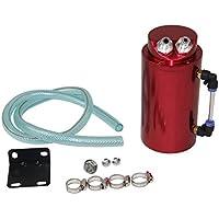 Primecooling Full aluminum cilindro motore olio cattura serbatoio can + tubo di sfiato per Toyota Mazda Nissan Mitsubishi (rosso)