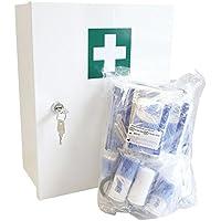 Rot-Kreuz-Schrank, Metall-Verbandschrank, Sanitätswandschrank, Erste Hilfe Schrank in weiß preisvergleich bei billige-tabletten.eu