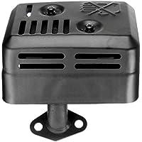 Mazur Tipo de estación Total Sistema de silenciador de Escape Adecuado para Honda GX120 GX160 GX200 5.5 HP 6.5 HP Junta de ensamblaje (Negro)