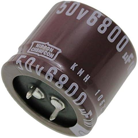 2x Elettrolitici Condensatore 6800µF 50V 105°C EKMH500VSN682MA30S ;
