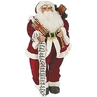 Viscio Trading 160398 Papá Noel Navidad con Pacco Reliquias/pergamino y Gafas, Tela,