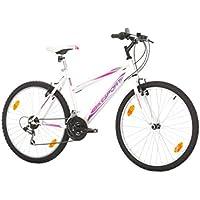 26 Pulgadas Bikesport AVDENTURE Bicicleta para Mujer Mountain Bike, 18 velocidades Shimano (L /