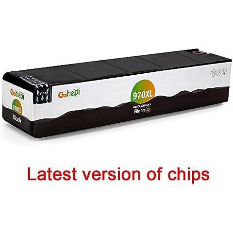 Gohepi Reemplazo para HP 970XL Cartuchos de tinta 1 Negro Alta Capacidad Compatible con HP Officejet Pro X576dw X551dw X476dw X451dn X451dw X476dn