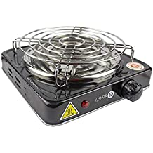 Paide Cocina eléctrica con reijlla para cachimba Shisha Hookah Camping para cocinar carbón ...