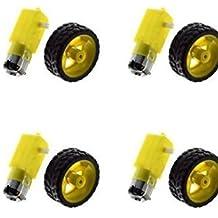 Robotbanao BO1 Duel shaft BO motor 150 rpm with wheel - 4 Pcs