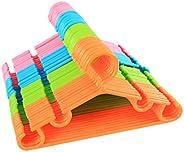 sfesnid Perchas para Ropa de Infantiles De Plástico para Niños y Bebés 27CM + 3pcs Organizador
