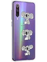 Oihxse Compatible con Xiaomi Mi Mix 2 Funda Cristal Silicona TPU Suave Ultra-Delgado Protector Estuche Creativa Patrón Protector Anti-Choque Carcasa Cover(Pereza A3)