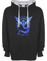 Team Mystic Pokemon Go Cool Blur Höchster Qualitätt Kontrast Unisex Kapuzenshirt