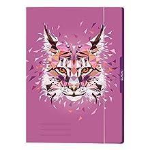 Herlitz 50027958 - Cartella portadocumenti, formato A4, motivo: animali selvatici, 1 pezzo