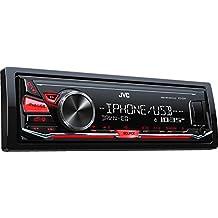 JVC KD-X241 Negro receptor multimedia para coche - Radio para coche (4.0 canales, FM,LW,MW, 87,5 - 108 MHz, 153 - 279 kHz, MOS-FET, 2 líneas)
