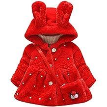 Abrigo de algodón acolchado de manga larga para niñas e9ebc81862f