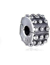 Materia cuentas de plata{925} tope clip decatizado - Plata envejecida para mayor Beads pulseras con rosca #495